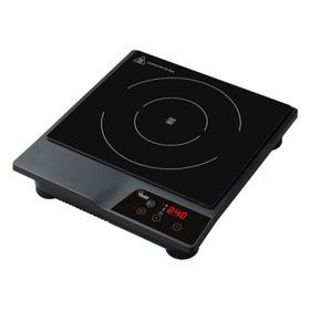 Плита VIATTO VA-180K, индукционная, 1.8 кВт, 1 конфорка, 10 режимов, серебристо-чёрная