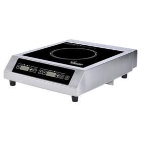 Плита VIATTO VA-IC3572S, индукционная, 3.5 кВт, 1 конфорка, 10 режимов, серебристо-чёрная