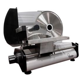 Ломтерезка VIATTO VA-MS2218, 180 Вт, толщина нарезки до 15 мм, чёрно-серебристая Ош