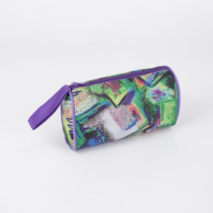 Косметичка-сумочка, отдел на молнии, цвет разноцветный