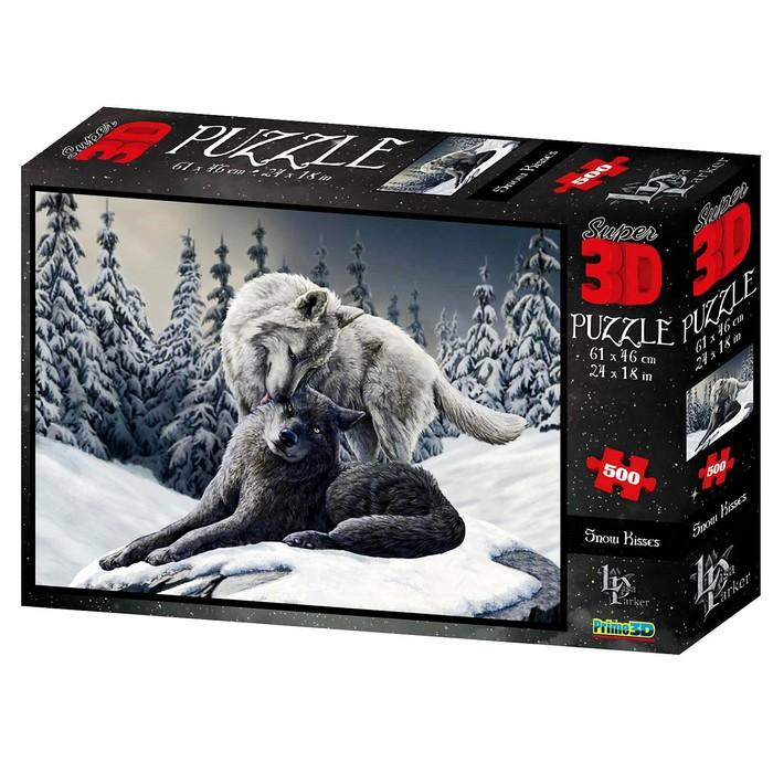 3D Пазл 500 элементов «Волки», 6+