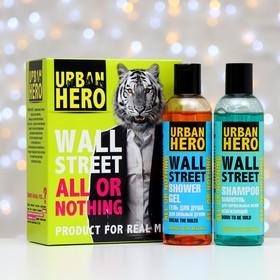 Набор подарочный Urban Hero Wall Street: шампунь для нормальных волос, 230 м + гель для душа, 230 мл