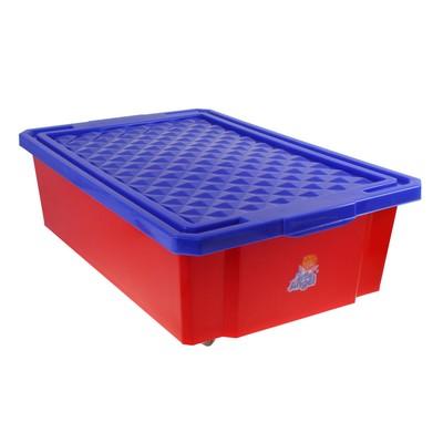 Ящик для игрушек Little Angel «Лего» с крышкой, 30 л, цвет красный - Фото 1