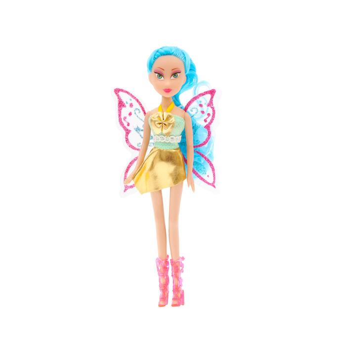 """Кукла """"Фея"""" с крыльями, гнутся руки и ноги, МИКС"""