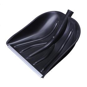 Ковш лопаты пластиковый, 410 × 460 мм, с алюминиевой планкой, тулейка 32 мм, «Купец» Ош
