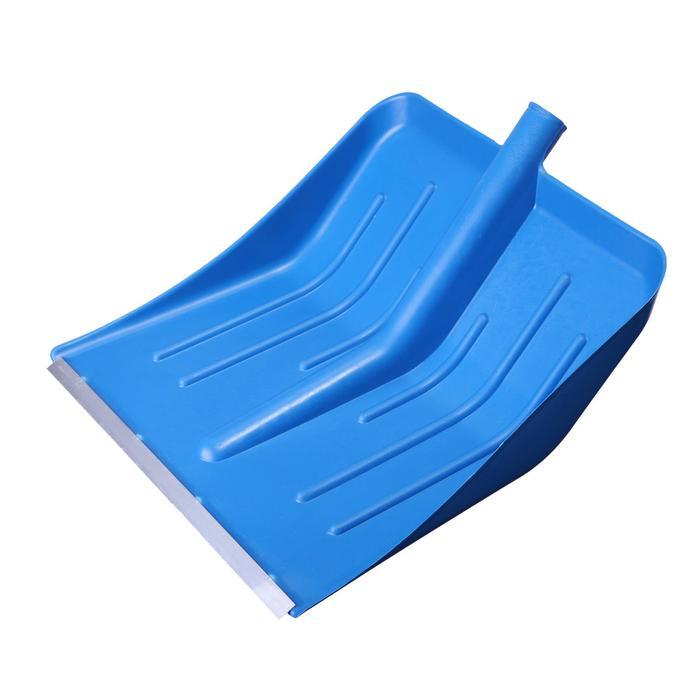 Ковш лопаты пластиковый, 430 × 440 мм, с алюминиевой планкой, тулейка 32 мм, «Метелица»