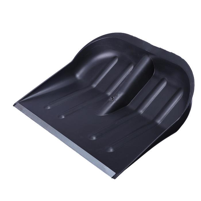 Ковш лопаты пластиковый, 360 × 410 мм, с оцинкованной планкой, тулейка 32 мм