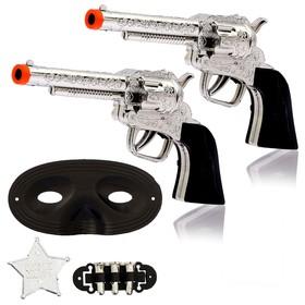 Набор ковбоя «Шериф», 2 пистолета, маска, значок Ош