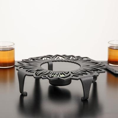 Подставка для подогрева «Подсолнух», d=18,6 см, цвет чёрный - Фото 1