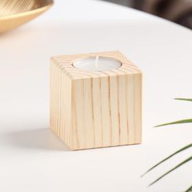 Подсвечник деревянный 6×6 см Ош