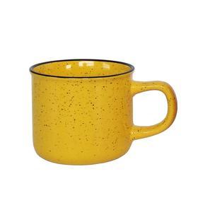 Кружка керамическая, 320 мл, жёлтая