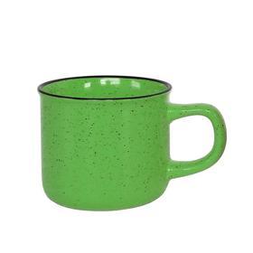 Кружка керамическая, 320 мл, зелёная