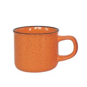 Кружка керамическая, 320 мл, оранжевая