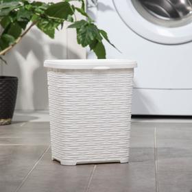 Корзина для стирального порошка «Плетёная», 6 л, цвет белый