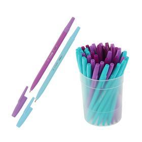 Ручка шариковая «Стамм», «Галактика», узел 1.0 мм, чернила синие, стержень 135 мм, микс