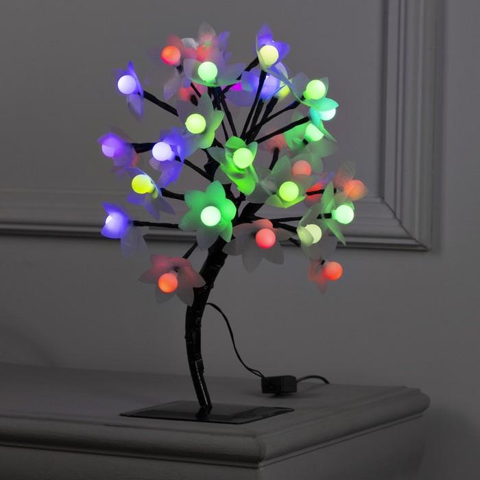 Светодиодный куст улич 03 м, Шарикицветы, 32 LED, 220V, моргает МУЛЬТИ