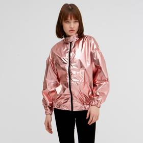 Бомбер женский MINAKU: Trend zone, цвет розовый, размер 42, рост 164 Ош