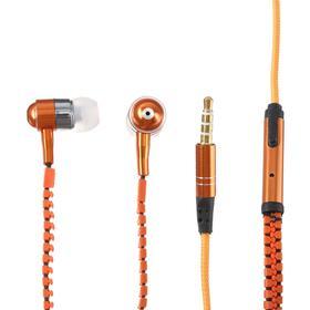 Наушники ELTRONIC ZIPPER, вакуумные, микрофон, 102 дБ, 32 Ом, 3.5 мм, 1.2 м, оранжевые