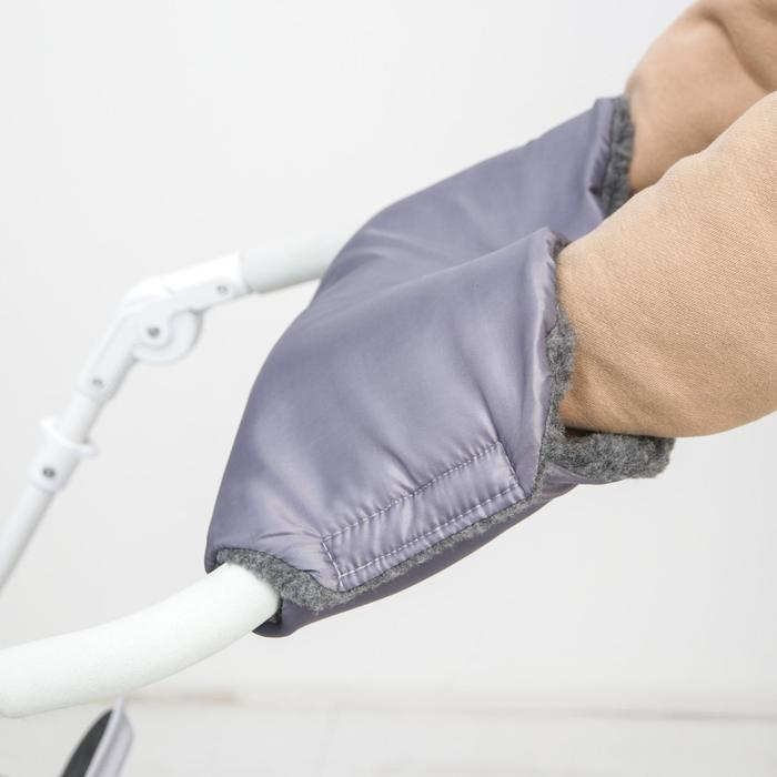 Муфта на ручку коляски, цвет серый