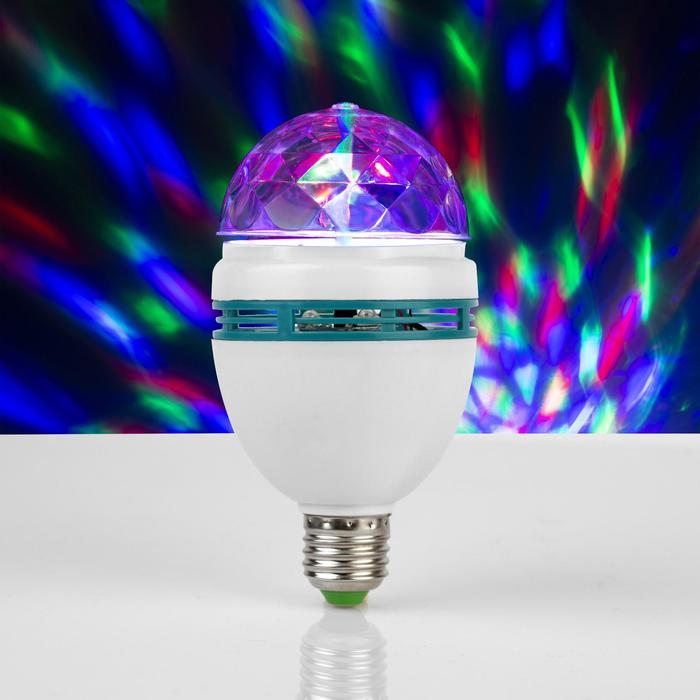 Лампа хрустальный шар, d=8 см, эффект зеркального шара 17х8х8 220V, тип цоколя Е27
