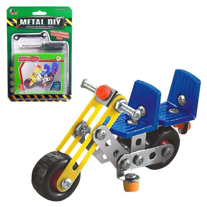 Конструктор металлический Мотоцикл, 53 детали