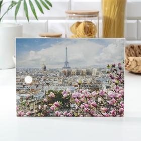 Доска разделочная «Цветочный Париж», 18,5×25 см