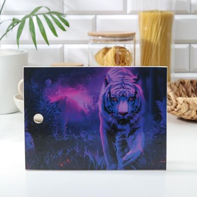 Доска разделочная «Неоновый тигр», 18×25 см