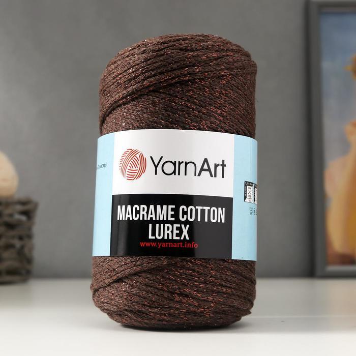 "Пряжа ""Macrame cotton lurex"" 75%хлопок, 13%полиэст., 12%металлик 205м/250гр (736)"