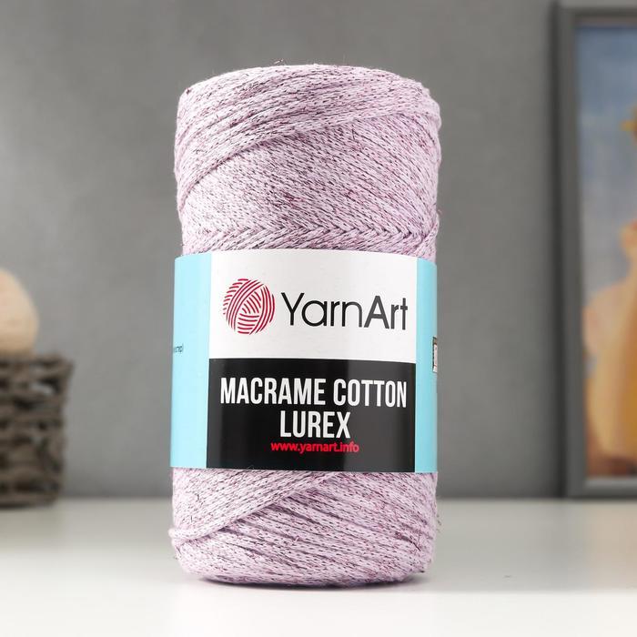 "Пряжа ""Macrame cotton lurex"" 75%хлопок, 13%полиэст., 12%металлик 205м/250гр (734)"