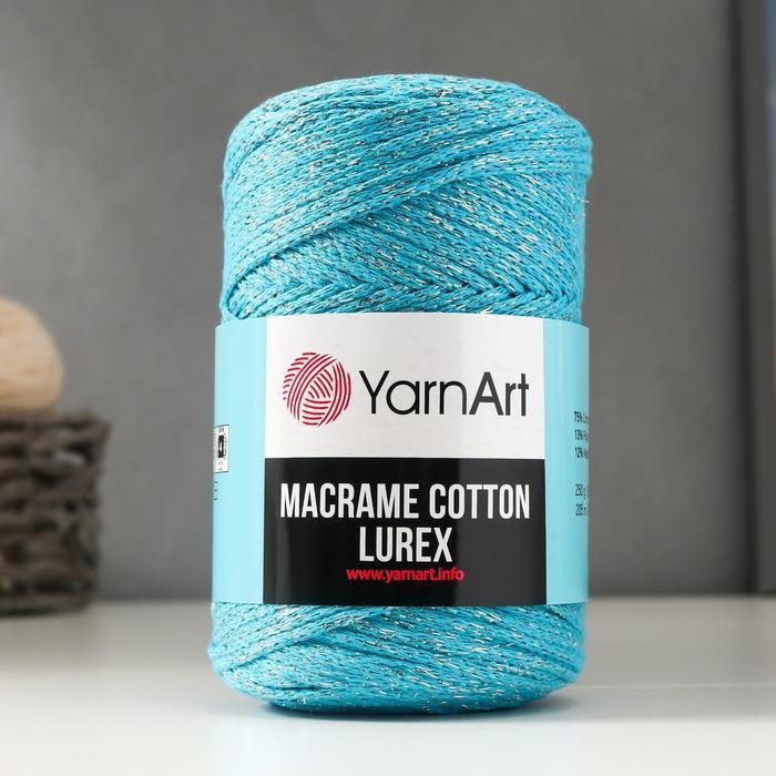 "Пряжа ""Macrame cotton lurex"" 75%хлопок, 13%полиэст., 12%металлик 205м/250гр (733)"