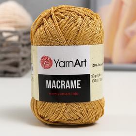 Пряжа 'Macrame Макраме' 100% полиэстер 130м/90гр (155 кремовый) Ош