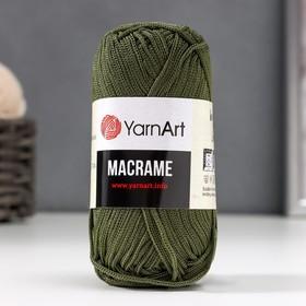 Пряжа 'Macrame Макраме' 100% полиэстер 130м/90гр (164 болотный) Ош