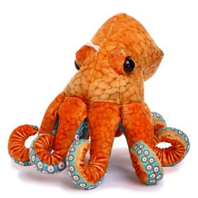 Мягкая игрушка «Осьминог», 25 см, цвет оранжевый
