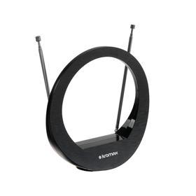 Антенна Kromax TV FLAT-02, комнатная, активная, 30 дБи, DVB-T2, питание от ТВ, цифровая