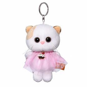 Мягкая игрушка-брелок «Кошечка Ли Ли в платье» 12 см
