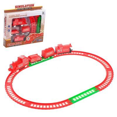 Железная дорога «Классический поезд», работает от батареек