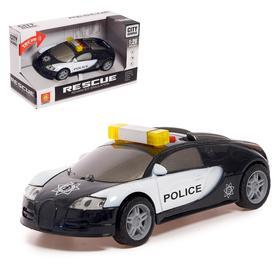 Машина инерционная «Полиция», свет и звук, 1:28