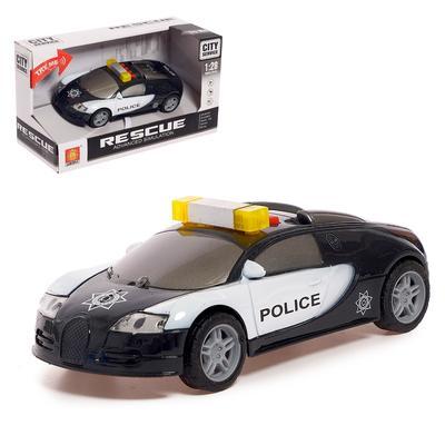 Машина инерционная «Полиция», свет и звук, 1:28 - Фото 1