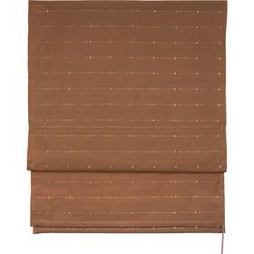Римская штора «Терра», размер 80х160 см, цвет коричневый Ош