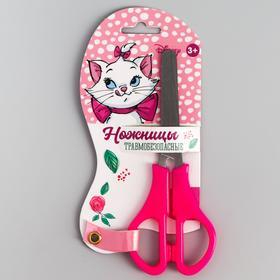 Ножницы детские 12 см, безопасные, пластиковые ручки, Коты аристократы, МИКС Ош