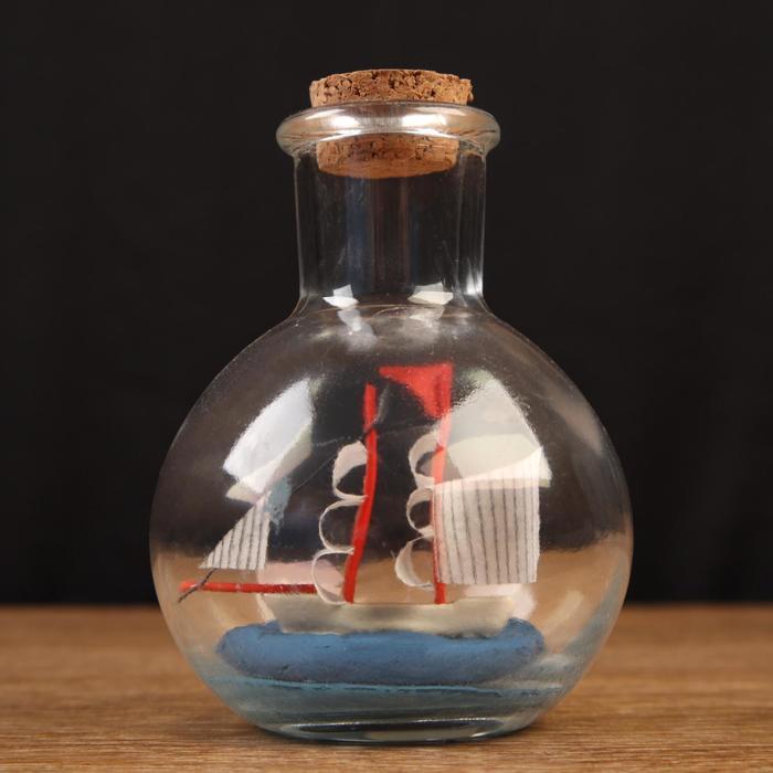 Корабль сувенирный Пилигрим в бутылке, вертикальн. 97см