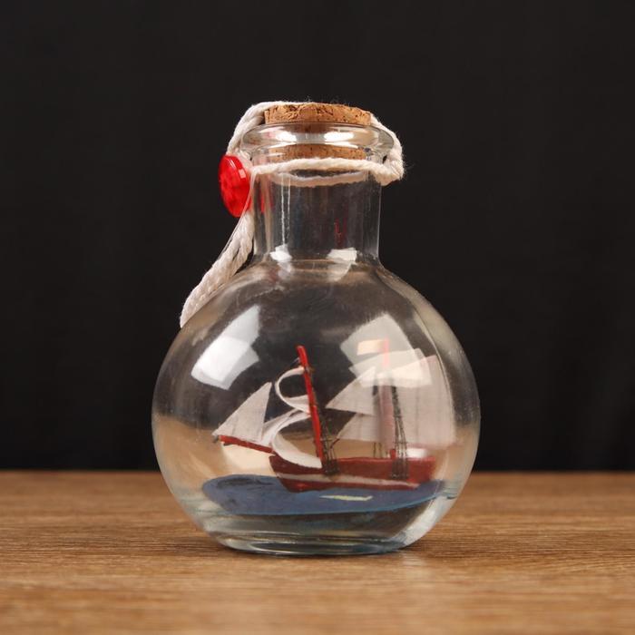 Корабль сувенирный Всеслав, в бутылке, вертикальн. 97см