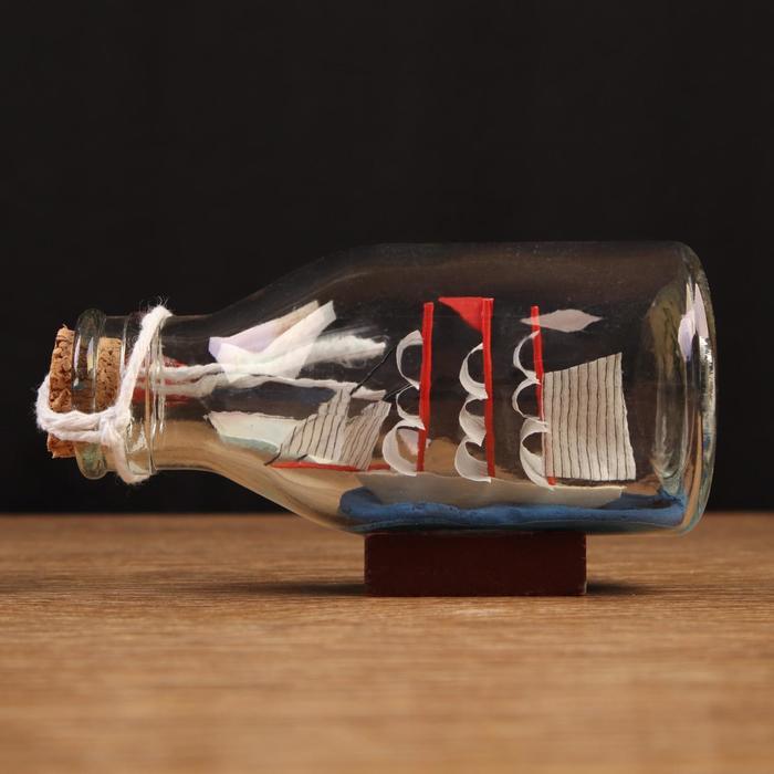Корабль сувенирный, в бутылке, горизонт. 1156см