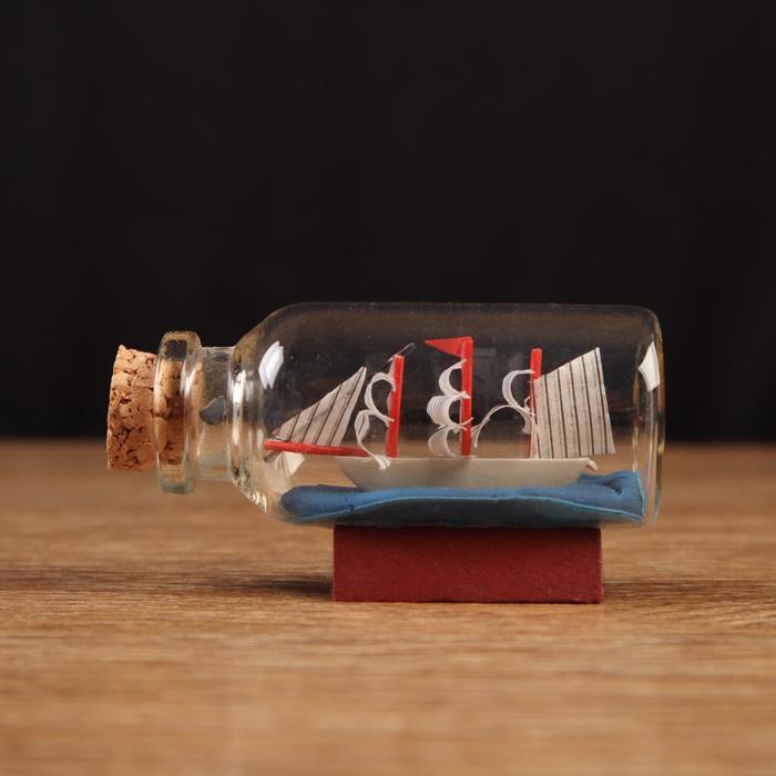 Корабль сувенирный, в бутылке, горизонт. 62,53,5см