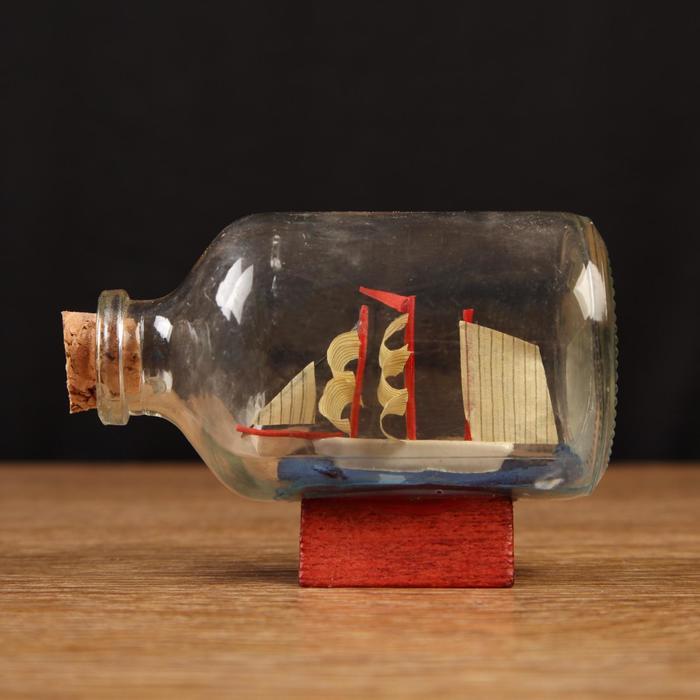 Корабль сувенирный Александра, в бутылке, горизонт. 7,545см