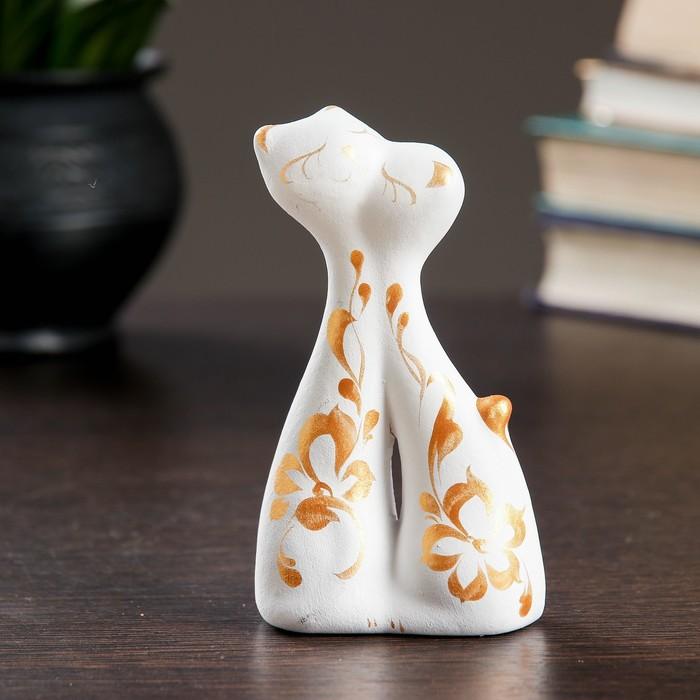 Фигура Коты влюбленные мини белые, 36,512см