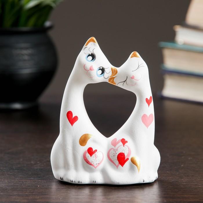 Фигура Коты влюбленные малые белые 5911см 074