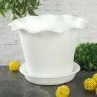 """Горшок для цветов с поддоном 2 л, d=20 см """"Бали"""", цвет белый"""
