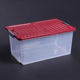 Контейнер для хранения со складной крышкой Unibox, 12 л, 40,5×25,1×18,5 см, цвет МИКС
