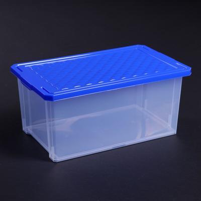 Ящик для хранения с крышкой BranQ Optima, 12 л, 40,3×25,1×18 см, цвет МИКС